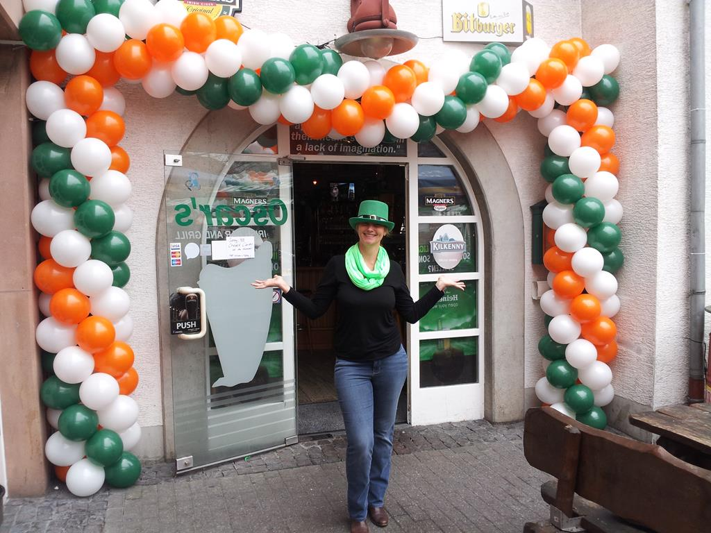 St. Patricks Day mit Ballondekoration im Irish Pub Landstuhl